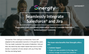 Sinergify: Seamlessly Integrate Salesforce<sup>®</sup> and Jira